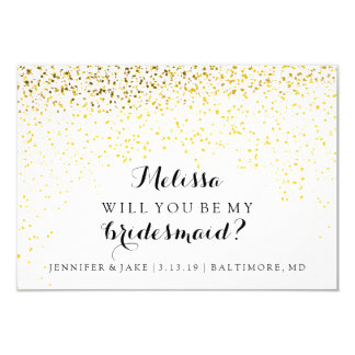 Will You Be My Bridesmaid Card - Confetti Fab