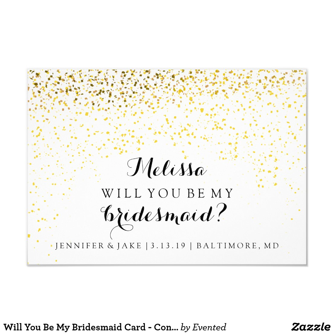 Will You Be My Bridesmaid Card - Confetti Fab You