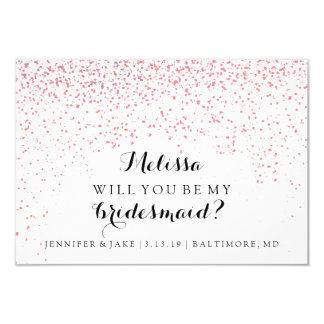 Will You Be My Bridesmaid Card - Confetti Fab YouP