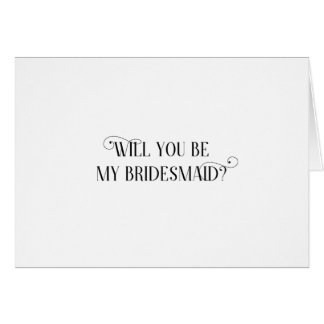Will You Be My Bridesmaid Card - folded
