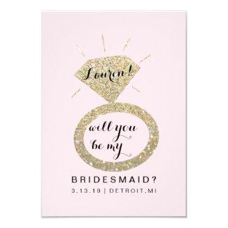 Will You Be My Bridesmaid Card - Glit Diamond FabP