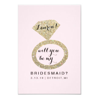 Will You Be My Bridesmaid Card - Glit Ring Fab P
