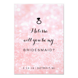 Will You Be My Bridesmaid Card - Glit Ring Fab Pi