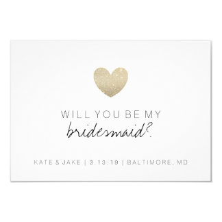 Will You Be My Bridesmaid Card - Heart