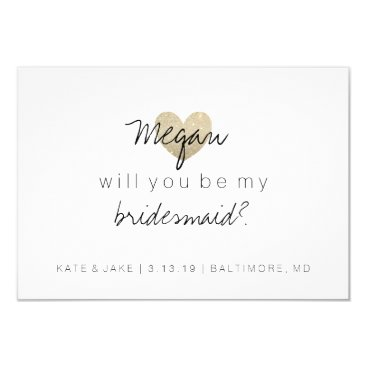 Valentines Themed Will You Be My Bridesmaid Card - Heart's Fab 2