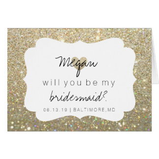 Will You Be My Bridesmaid Card - Heart's Fab Day G