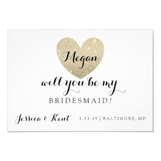 Will You Be My Bridesmaid Card - Heart's Fab II