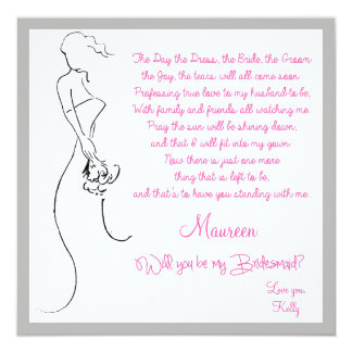 Will you be my Bridesmaid? Card Invite