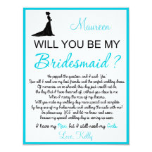 Will you be my Bridesmaid? Card Invites