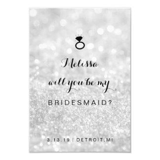 Will You Be My Bridesmaid Card - Lit Fab Silver