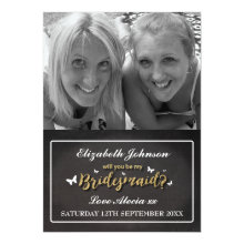 Custom Photo Be My Bridesmaid Cards