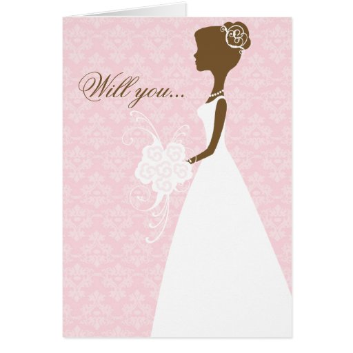 Will you be my bridesmaid card (pink)