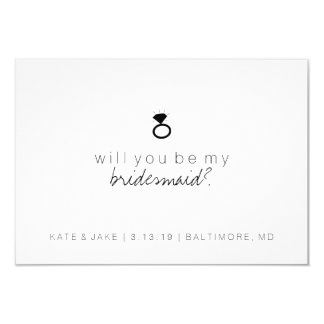 Will You Be My Bridesmaid Card - Ring