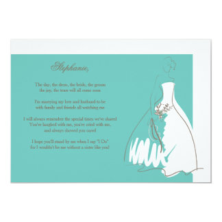 Will You Be My Bridesmaid Card Teal