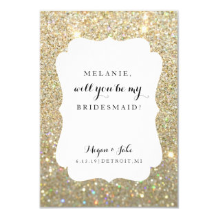 Will You Be My Bridesmaid Card - Wedding Day Fab at Zazzle
