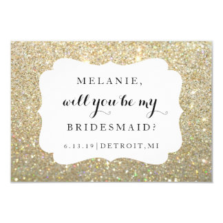 Will You Be My Bridesmaid Card - Wedding Day Gold