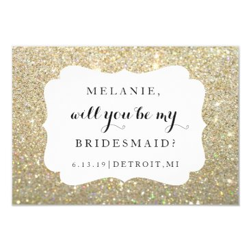 Evented Will You Be My Bridesmaid Card - Wedding Day Gold