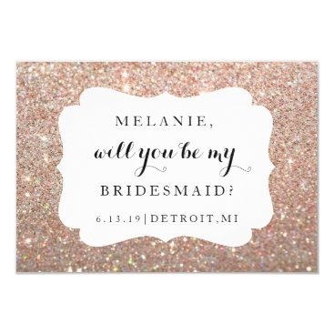 Evented Will You Be My Bridesmaid Card -Wedding Day Rose