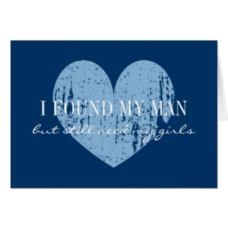 Will you be my bridesmaid cards navy blue heart greeting card