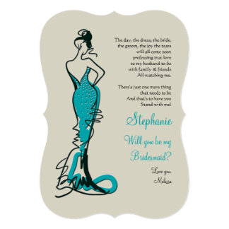 Will You Be My Bridesmaid Cards (Teal)