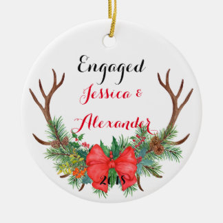 Will You Be My Bridesmaid Ceramic Antlers Ornament