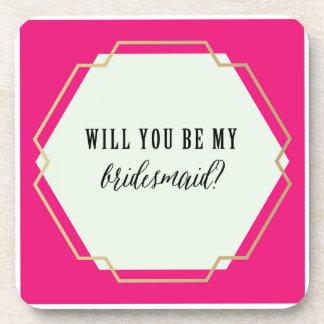 Will You Be My Bridesmaid? Coaster Set