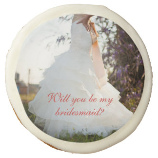 Will you be my bridesmaid cookies sugar cookie