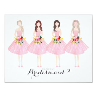 Will you be my bridesmaid custom card