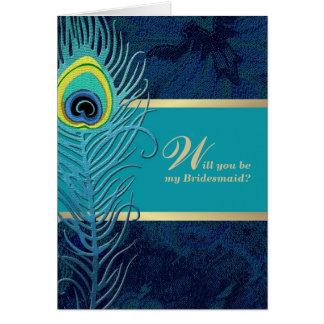 Will you be my Bridesmaid?  Custom Invitation Card