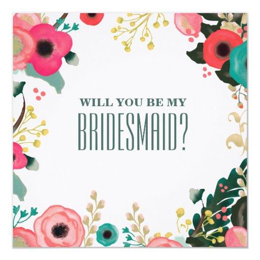 Will you be my Bridesmaid? Custom Invitation Cards 5.25 ...