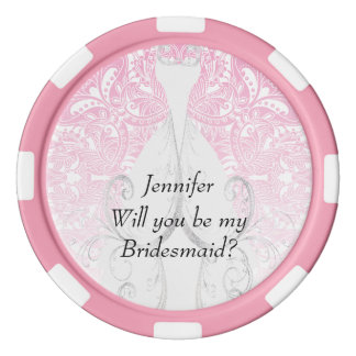 Will you be my Bridesmaid Design  | Zazzle Poker Chip Set
