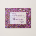 """Will You Be My Bridesmaid? Festive Confetti Jigsaw Puzzle<br><div class=""""desc"""">You are planning the most special day of your life and this gold glitter look puzzle invitation will make your potential bridesmaids feel extra special too!!!</div>"""