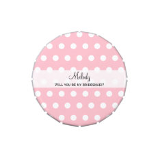 Will You Be My Bridesmaid Gift Candy Tin at Zazzle