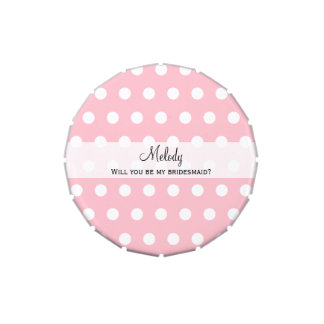 Will You Be My Bridesmaid Gift Candy Tin