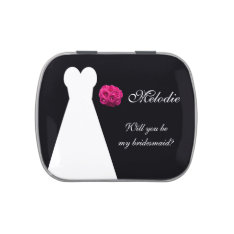 Will You Be My Bridesmaid Gift Candy Tin Idea at Zazzle