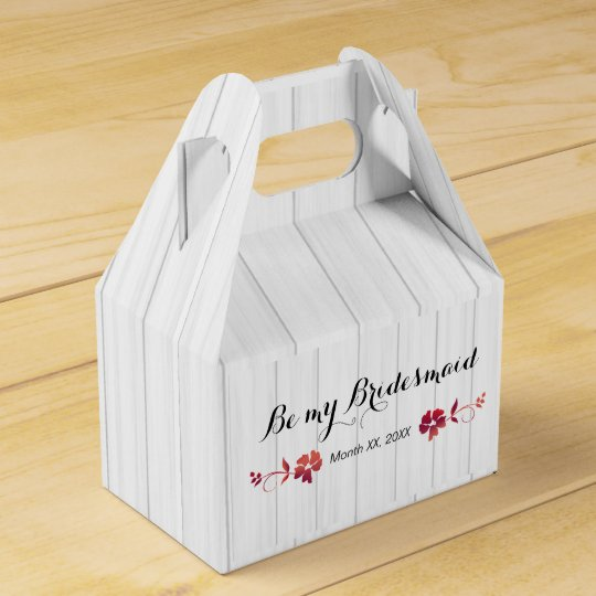Will You Be My Bridesmaid Gift Ideas Favor Box