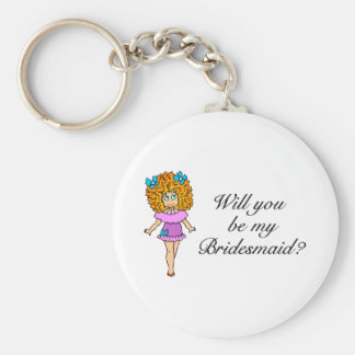Will You Be My Bridesmaid? (Girl) Keychain