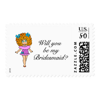 Will You Be My Bridesmaid (Girl) Postage