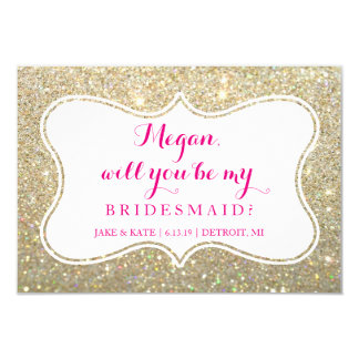 Will You Be My Bridesmaid - Glittered Card