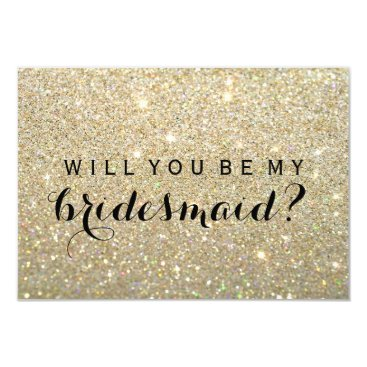 evented WIll You Be My Bridesmaid - Gold Fab Card
