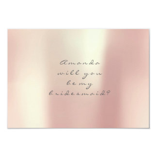Will You Be My Bridesmaid Gold Peach Pink Blush Card