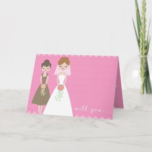 Will You Be My Bridesmaid Greeting Card? card