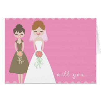 Will You Be My Bridesmaid Greeting Card? Greeting Card