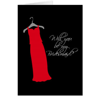 """Will you be my Bridesmaid?"" Greeting Cards"