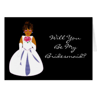 """""""Will You Be My Bridesmaid II"""" Card - Customizable Cards"""