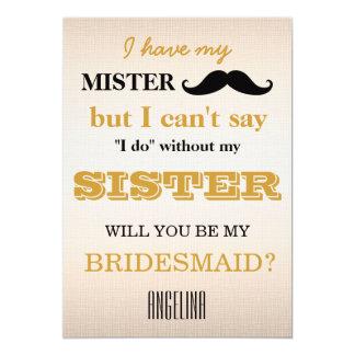 Will you be my bridesmaid? invitation