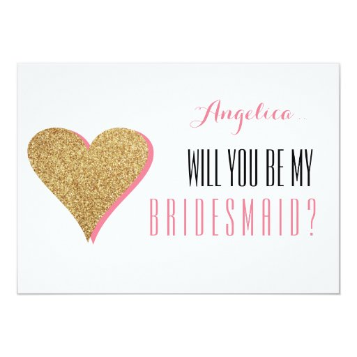 Bridesmaid Invitation Gifts with awesome invitation template