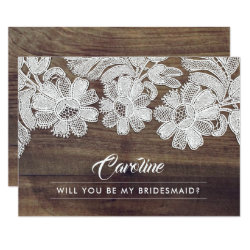 Will you be my Bridesmaid? Invitation Cards