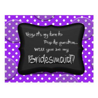Will You Be My Bridesmaid?.jpg Postcard