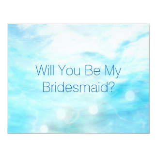 Will You Be My Bridesmaid? Minalism Conceptual Card